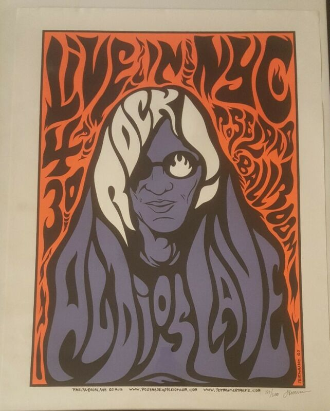 AUDIOSLAVE - 2005 S/N Silkscreen Concert Poster NYC Roseland Jermaine Rogers