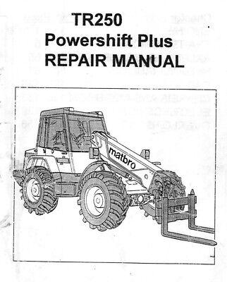 Matbro TR250 Workshop Manual Handbook on CD TR 250 Turbo Terex