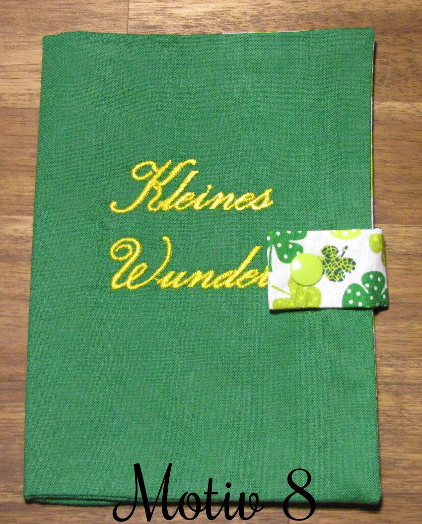 Mutterpasshülle | Geschenk | Handgemacht Grün Motv 8