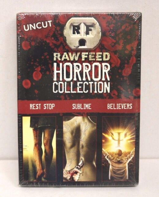 Raw Feed Horror Collection (DVD) (DVD, 2008, 3-Disc Set) New, Sealed