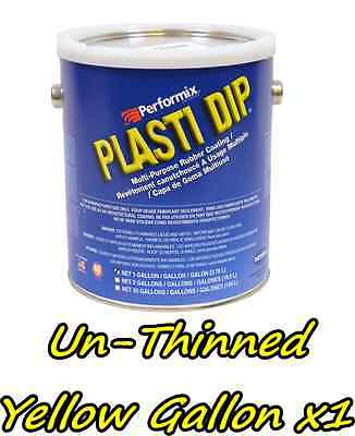 1 Gallon Yellow Unthinned Performix Plasti Dip Concentrate Full Strength