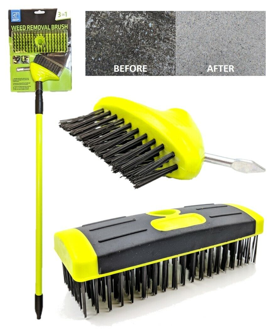 Patio Weed Brush Replacement Heads 2 Pack Wolf Garten Multi Change Paving Clean