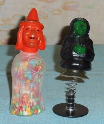 vintage HALLOWEEN WITCH POP-UP TOY & E. Rosen plastic CANDY CONTAINER LOT](Pop Up Halloween Decorations)