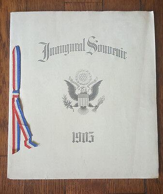 1905 Inaugural Souvenir Booklet President Theodore Roosevelt Memorabilia Teddy