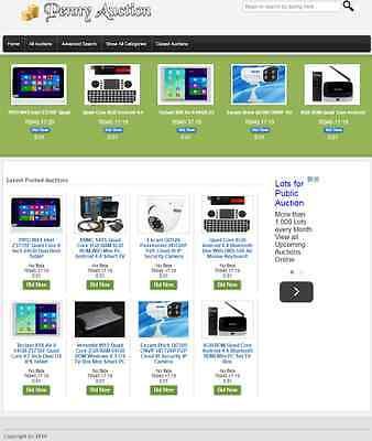 Penny Bids Auction Website Business For Sale Wholesale Drop Ship Supplier