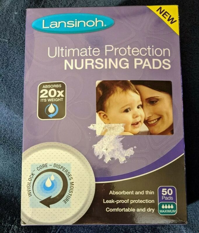 Lansinoh Ultimate Protection Nursing Pads 50 pads MAX ABSORPTION.