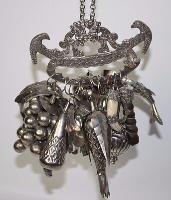 PENCA OF BALANGANDAN. SILVER AND SILVER PLATED, BRAZIL. 19TH CENTURY.