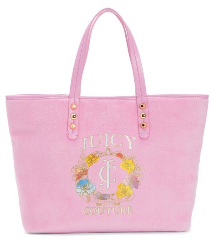 Juicy Couture Girl Bag Pammy Tote Pink Velour