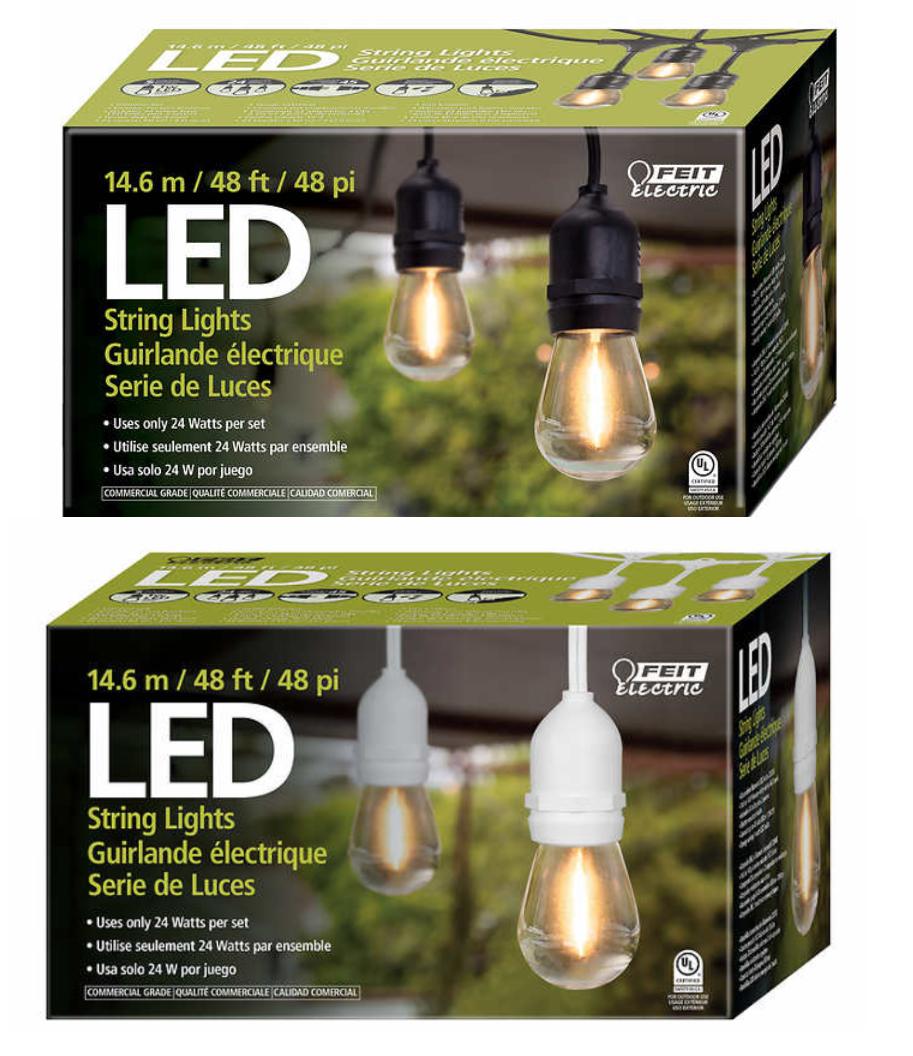 Feit 48' 24 LED Bulbs Filament String Light Set