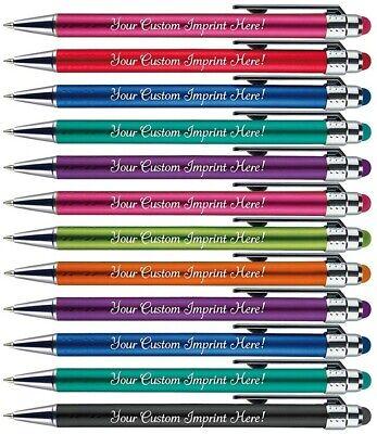 12 Custom Printed bright light pens. Name pens. Personalized pens. Stylus pen](Personalized Pen)