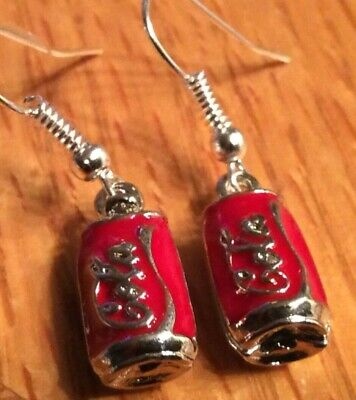 3D Coca Cola Earrings Fashion Jewelry 1 Pair 👻🧲 Mini Style 2~Cool~4~School New
