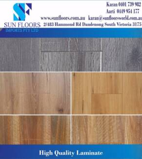 SUN FLOORS NEW RANGE HDF AC4 HIGH QUALITY LAMINATE-CHRISTMAS SALE