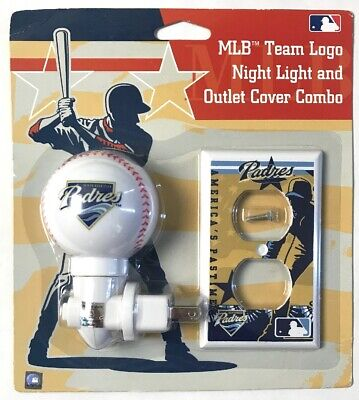 MLB San Diego Padres Night Light & Outlet Cover Combo Man Cave/ Kids Room Decor