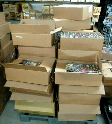 NEW LOT OF 500 CDs: ASSORTED MIX OF ARTISTS, STYLES & GENRES