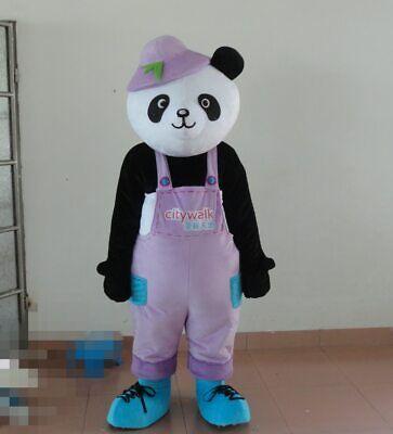 Panda Bear Halloween Costume For Adults (Halloween Panda Bear Mascot Costume Cosplay Party  Clothing Carnival)