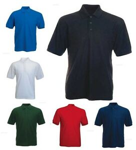 Mens-Active-Pique-Polo-T-Shirts-Size-XS-to-4XL-By-MIG-WORK-CASUAL-SPORTS-LEISURE
