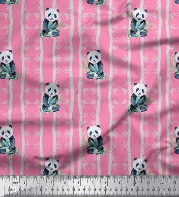 Soimoi Stoff Bambus Panda Dschungel Dekorstoff 1 Meter bedruckt - JG-501L_
