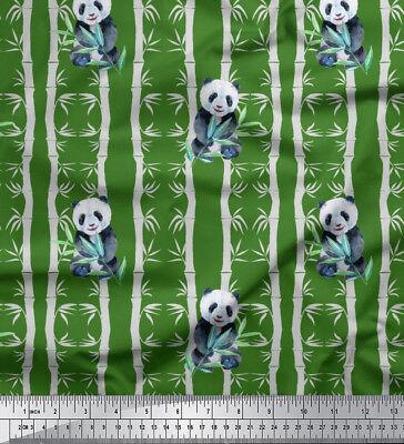 Soimoi Stoff Bambus Panda Dschungel Dekorstoff 1 Meter bedruckt - JG-501E