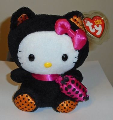 Black Cat In Halloween Costume (Ty Beanie Baby ~ HELLO KITTY in BLACK CAT Halloween Costume (6 Inch))