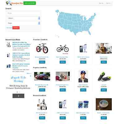 Classified Website Map Theme- Free Install