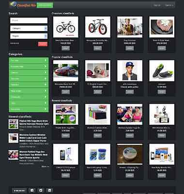 Local Classified Website Black Theme - Free Install Hosting With Ssl