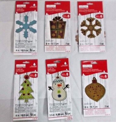 59pc lot Creatology Christmas kids color-in paper & Wood ornaments craft kits