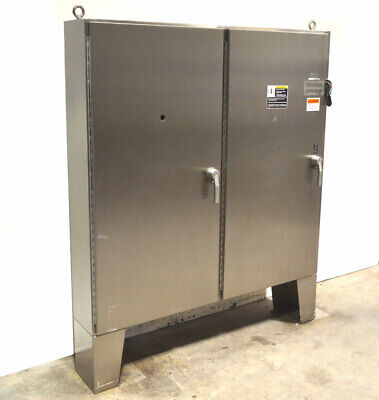 Hoffman A72x7312sslpn4 72x73 Panelboard Enclosure Stainless 2-door Switch-100a