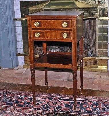 Important Inlaid Portsmouth Federal Sewing/Work Table, c.1810
