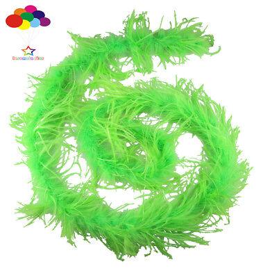 Straußenfeder Streifen Borte Boa Gefärbt Frucht Grün 2M Karneval Diy Kostüm