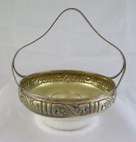 Antico Cestino Centrotavola Eneret Astral Silverplate Art Nouveau Bowl R90 -  - ebay.it