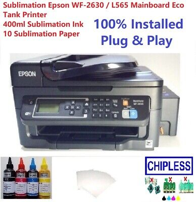 Sublimation Epson WF-2630 / L565 Mainboard Eco Tank Printer 400ml Ink & 10 Paper