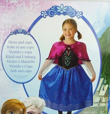 Disney Frozen Eiskönigin Anna Deluxe Kostüm Rubies L 8-10 Jahre (134-140)
