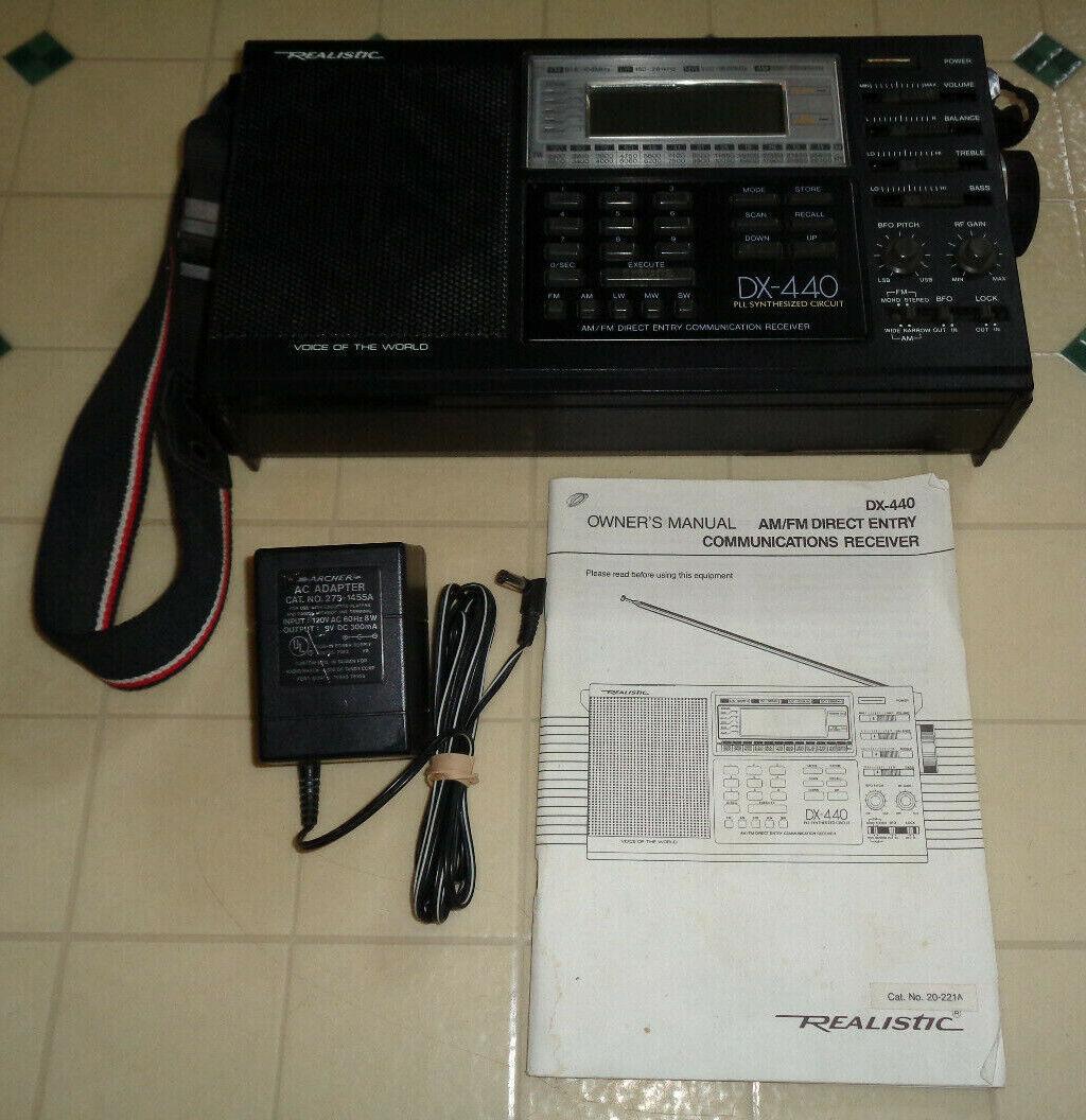 ~Realistic DX-440 AM/FM Direct Entry Communications Receiver Shortwave LW/MW/SW~