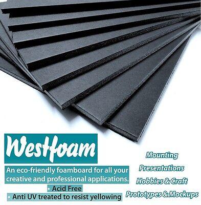 Foam Board A3 Black 5mm Thick Mount Board Sign Sheet Craft 297mm X 420mm