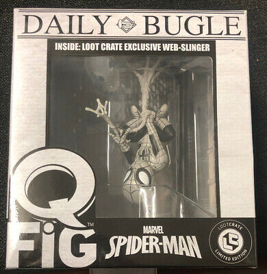 Daily Bugle Q Fig Marvel- Spiderman Limited Edition W/ Lootcrate NH