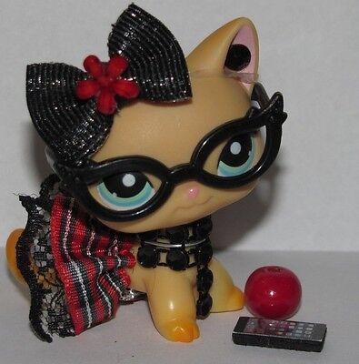 💞Littlest Pet Shop LPS Clothes/accessories Nerd lot *CAT NOT - Nerd Clothes