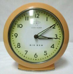 BIG BEN Retro LOUD ALARM Clock batteries Included Works Wind Up