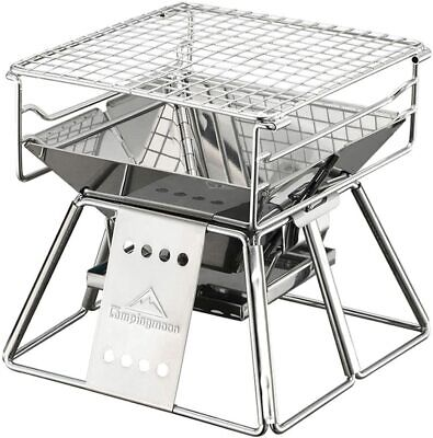 Newcamping Moon Bbq Stove Fire Pit With Storage Bagk
