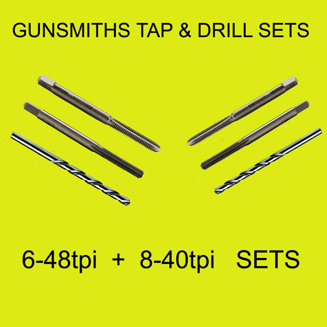 6-48 Tpi And 8-40 Tpi 6 Piece High Carbon Steel Tap Set Hard To Find