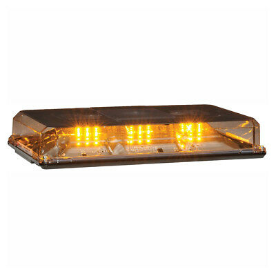 Federal Signal 454101hl-25 Highlighter Amber Led 15 Mini Lightbar Clear Lens