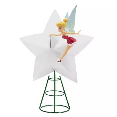 2020 Disney Store Tinker Bell Light-Up Holiday Tree Topper