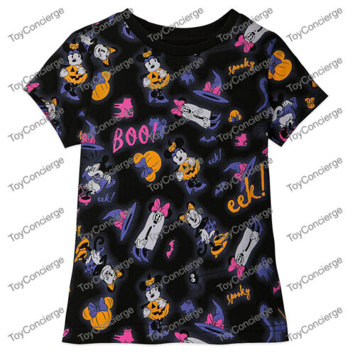 ^ DISNEY Store TEE for GIRLS - HALLOWEEN - GLOW IN THE DARK - Size 5/6 - NWT