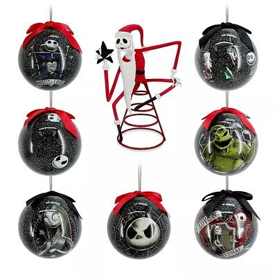 Disney Nightmare Before Christmas Tree Topper and Ball Ornament Set 2020 NEW