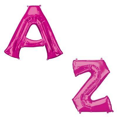 �llte Folien Ballon A-Z Jeder Name Nachricht (Brief Ballons Pink)