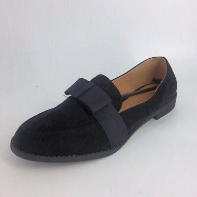 SOLE DIVE WOMENS SUEDE LOAFERS BLACK E FIT SIZE UK 8 EU 41 NH180 VV 02