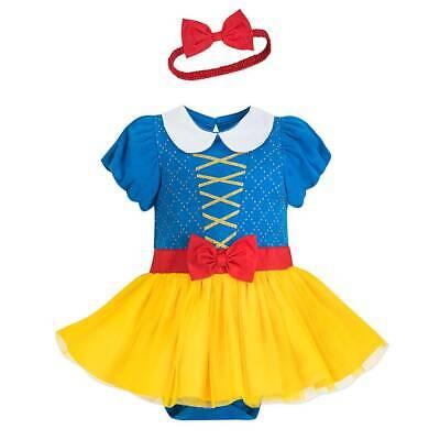 NWT Disney Store Snow White Baby Costume Bodysuit Headband - Disney Snow White Baby Kostüm