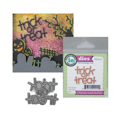Halloween Trick or Treat Words Metal Die Cuts Impression Obsession Dies DIE342-A - A Halloween Words