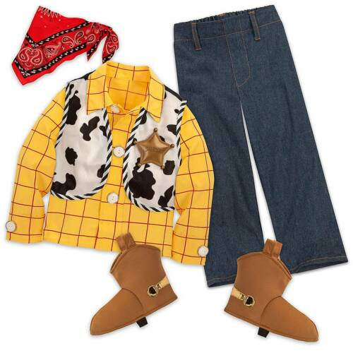 NWT Disney Store Woody Costume Set Boys Toy Story 3,4, 5/6,7/8,9/10