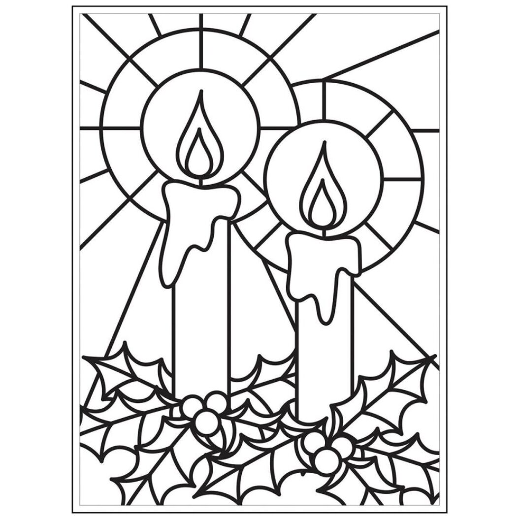 Embossing Folder 4.25X5.75-Mosaic Candles