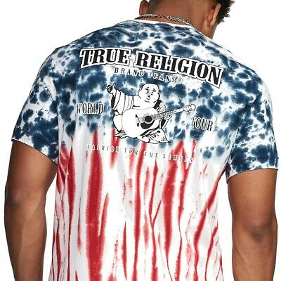 True Religion Men's Americana Tie Dye Tee T-Shirt in